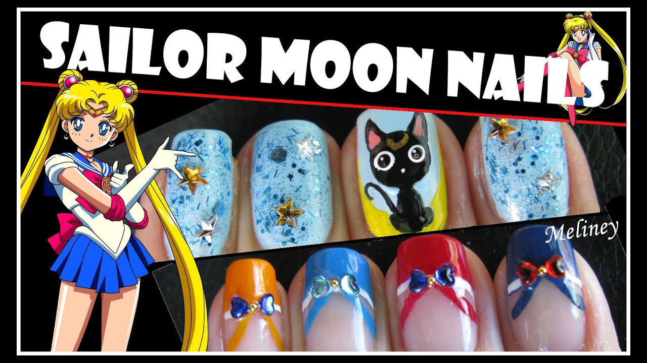 Halloween nails sailor moon nail art design anime cartoon french halloween nails sailor moon nail art design anime cartoon french tip manicure tutorial youtube prinsesfo Gallery