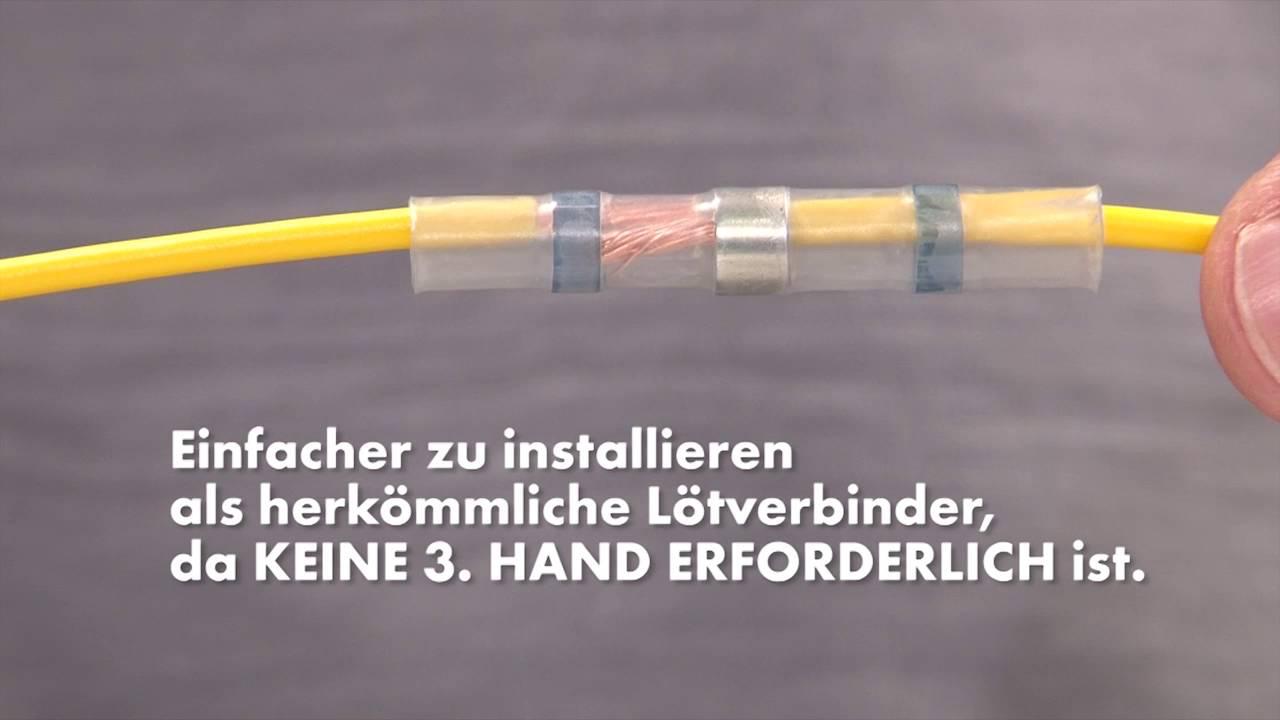 Lötverbinder Lötzinn Schrumpfverbinder Schrumpfschlauch Kabelverbinder Set 120°