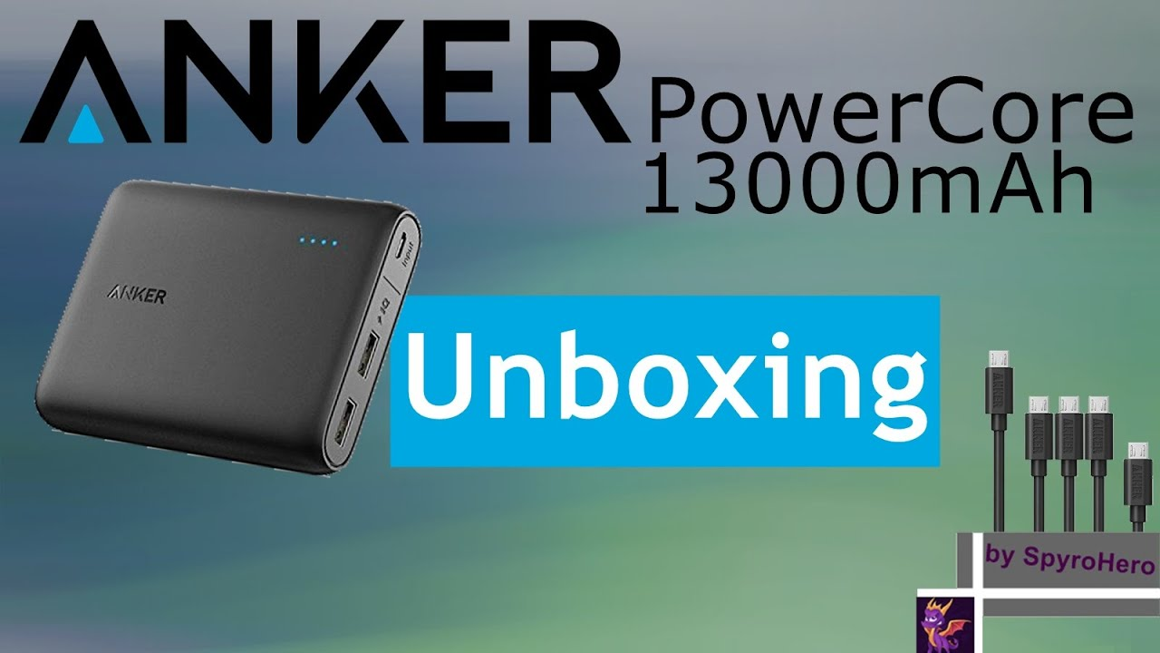 Anker PowerCore 13000mAh Externer Akku 2-Port 3A Power Bank Unboxing