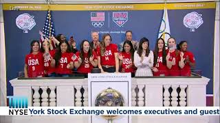 MLB and The USA Softball Olympic Team Ring The Opening Bell®