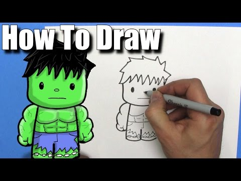 how to draw hulk step by step for kids