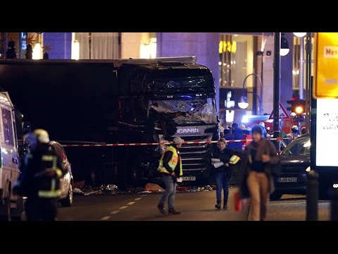 Truck rams into crowd at Christmas market in Berlin