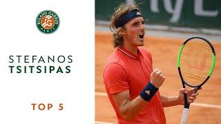 Stefanos Tsitsipas - TOP 5 | Roland Garros 2018