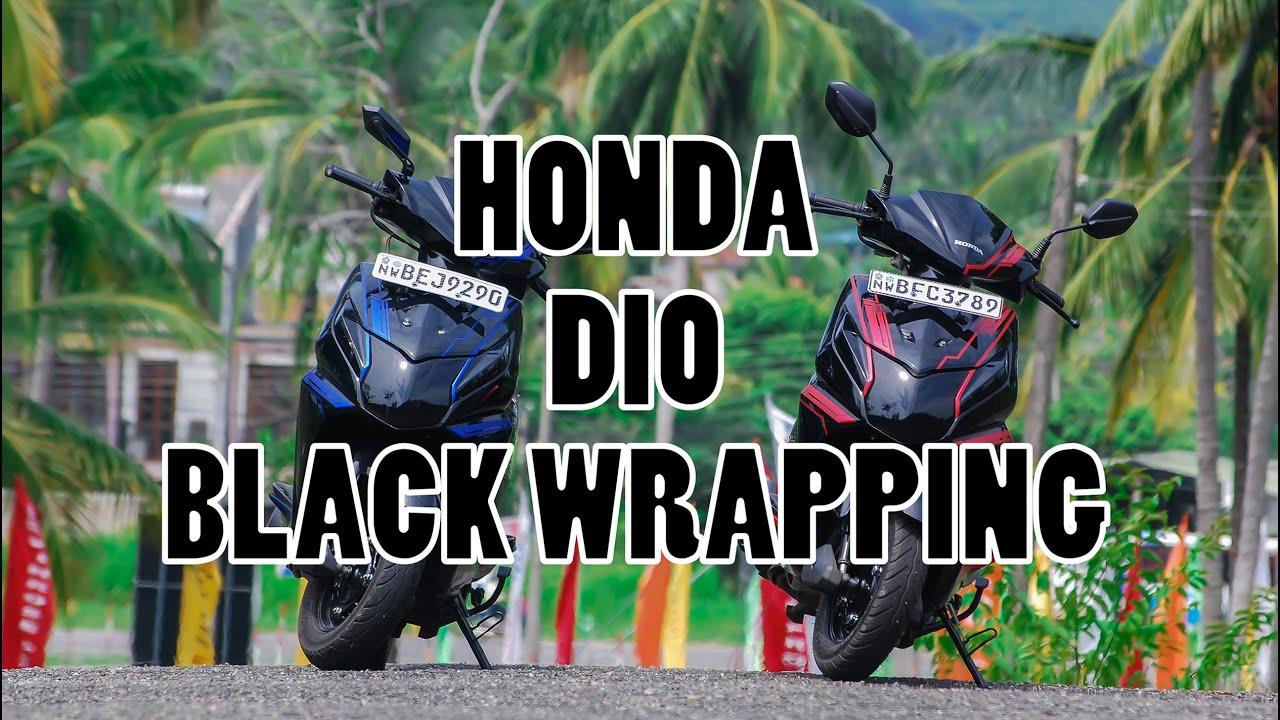 Honda dio modified 2018 top honda dio stickering by krishantha stickers