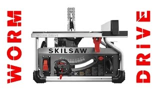 """Skilsaw's New 10"""" Worm Drive Table Saw - First Look"""