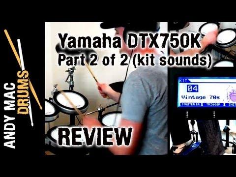 REVIEW: Yamaha DTX750K Electronic Drum Kit (part 2 of 2 - Kit Sounds) [14]