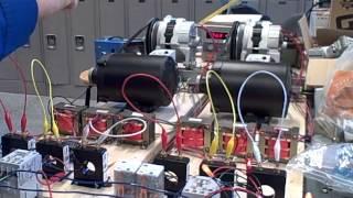 1 eşitleme AC jeneratörleri -- Bölüm (giriş ve senkronizasyon lambalar)