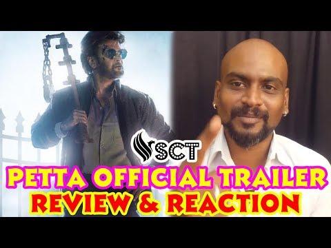 Petta Official Trailer Review   Rajinikanth  Vijay Sethupathi Simran Trisha SCT