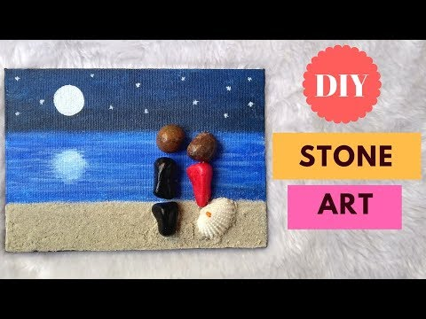 Stone art DIY | Pebble art diy |Easy stone painting ideas