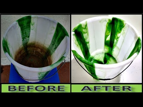 Without Scrub, Soap -Without Hand Cleaning How To Clean Dirty Bucket In 1-Minute At Home