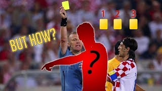 The Only Football Player In The World, Who Got 3 YELLOW CARDS.