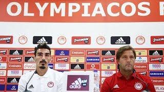 Συνέντευξη Τύπου Ολυμπιακός - Μπέρνλι / Press Conference Olympiacos - Burnley