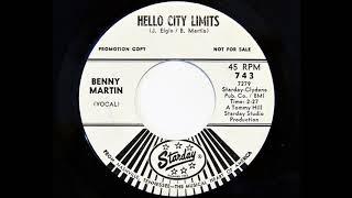 Gambar cover Benny Martin - Hello City Limits (Starday 743)