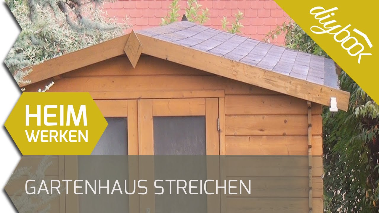 gartenhaus streichen und warten youtube. Black Bedroom Furniture Sets. Home Design Ideas