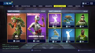 FORTNITE SHOP 23 JENNAIO - REX, MILITE TRIAGE, DAB, ARMADILLO, CAMPANA LAMA AND MORE