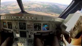 Paris LFPG Cockpit View Improved Landing 27R