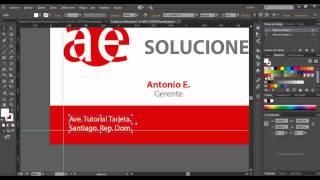 1-Tutorial Adobe Illustrator Tarjeta de Presentacion