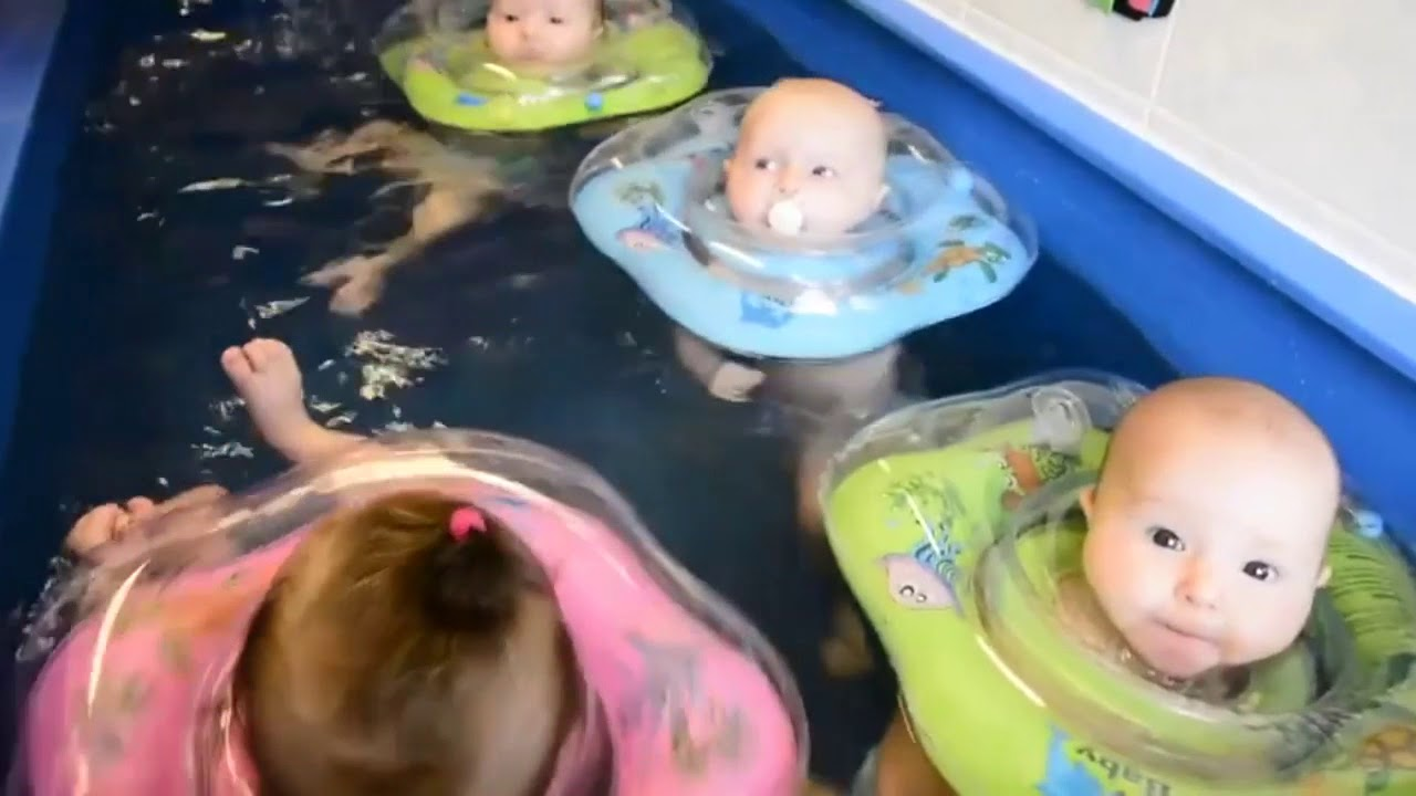 Inflatable Safety Ring For Bathing Your Baby - YouTube