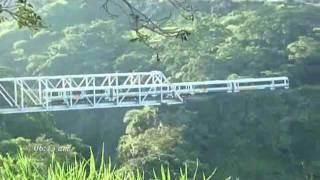Trenes cruzando puentes del Río Virilla