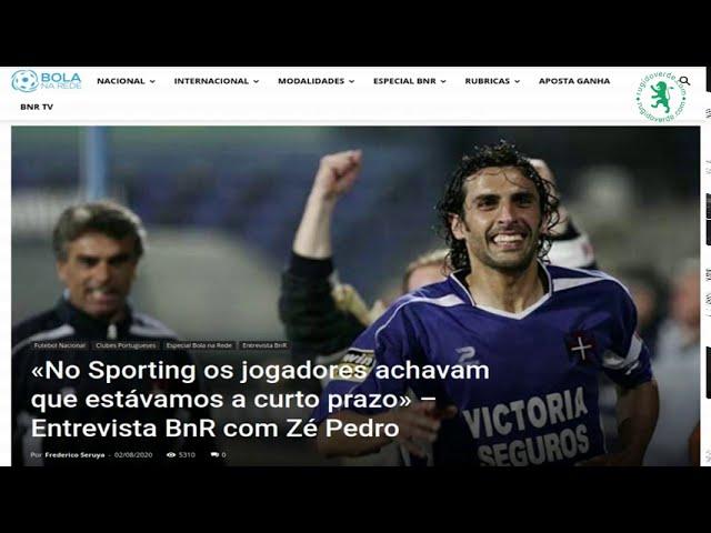 Parte da entrevista de Zé Pedro ao BolaNaRede onde se refere a Varandas e Hugo Viana