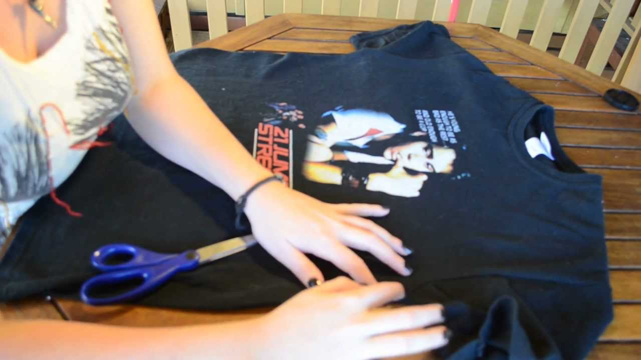t shirt into tank top