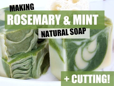 Making Rosemary & Mint Natural Soap- Double Batch! | Vinland Apothecary
