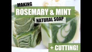 Making Rosemary & Mint Natural Soap- Double Batch!   Vinland Apothecary