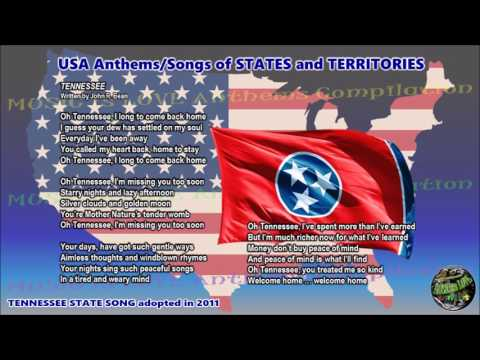 Tennessee State Song TENNESSEE with music, vocal and lyrics