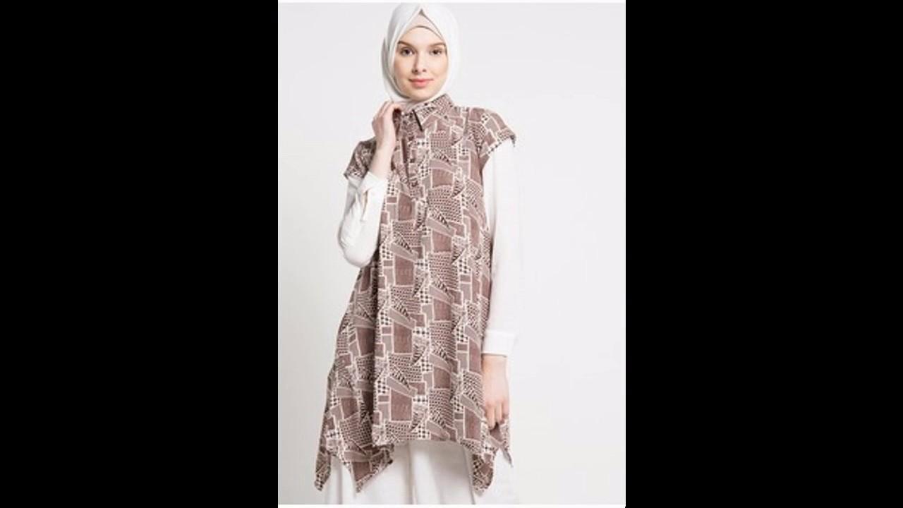 Baju muslim Atasan blouse butik untuk lebaran 12 - YouTube