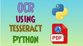 OCR(Optical Character Recognition) using Tesseract and