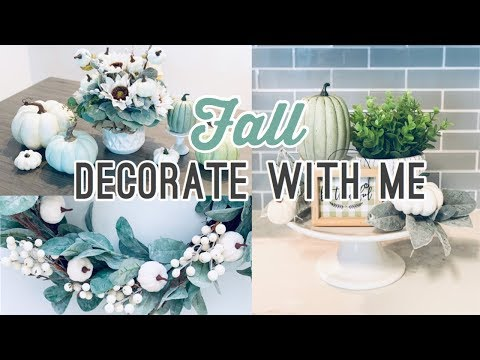 Fall Decorate With Me   Holiday Decor 2019   Living Eng