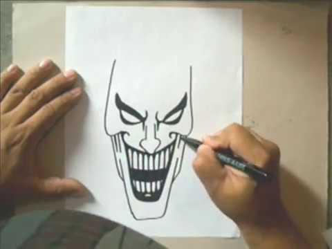 How to draw a joker como dibujar al joker