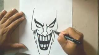 How to Draw a Joker - Como Dibujar al Joker