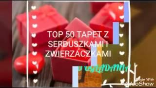Top50 tapet z serduszkami i zwierzętami