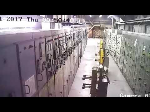 Electrical Plant Room Explosion Caught On Tape Electric Fail
