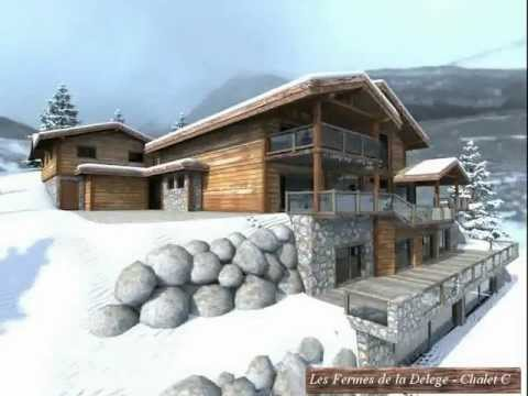chalet de grand luxe vendre les fermes de la delege crans montana valais suisse youtube. Black Bedroom Furniture Sets. Home Design Ideas