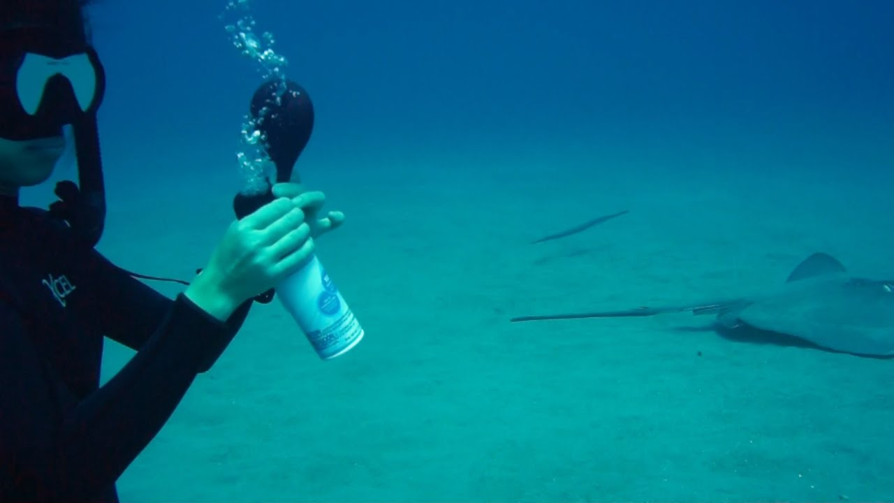 Freediving with balloons Weird Science Experiment 4