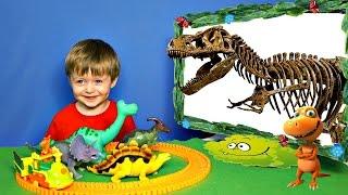 Детям про Динозавров Челлендж Угадай Скелет Динозавра #1 ТИРАННОЗАВР и др. Видео для Детей Lion boy