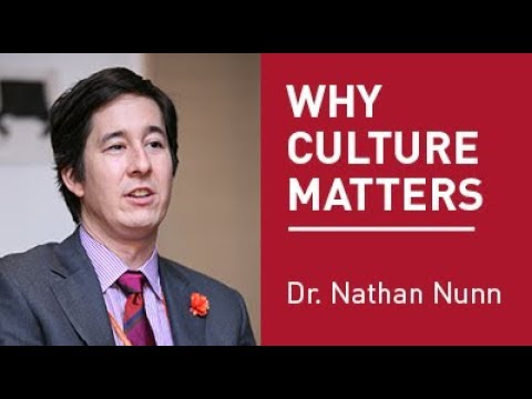 BMO Public Lecture - Dr. Nathan Nunn: Why Culture Matters