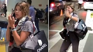 X17 EXCLUSIVE - Sofia Richie So Excited When Boyfriend Picks Her Up At LAX!