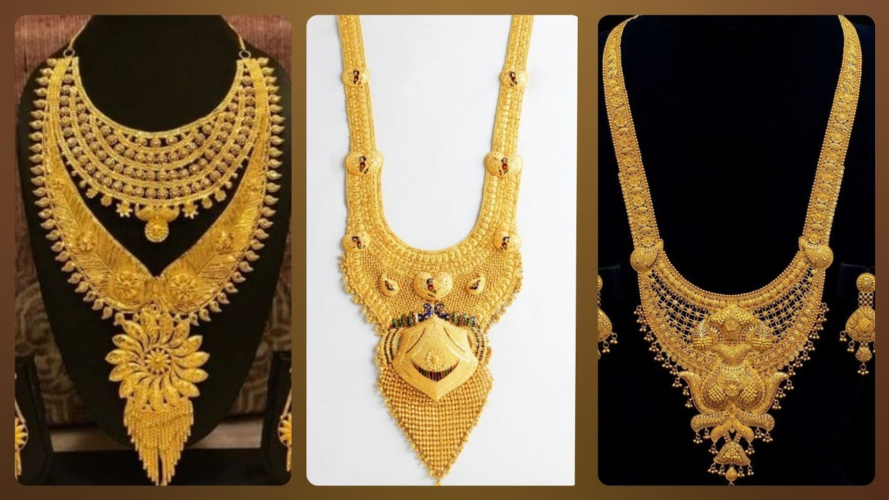 Latest Haram Designs 2020 Gold Long Necklace Designs 2020 New Necklace Design Necklace Designs Youtube