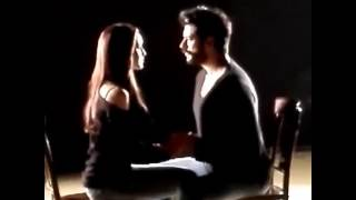 Фрагмент из закадрового видео со съемок клипа Фахрие Эвджен и Бурак Озчивит   Душа моя горит от тоск