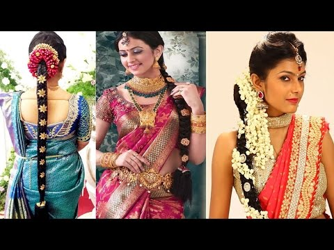 South Indian Bridal Hairstyles Step By Step | Bridal Hairstyles For Weddings & Reception |