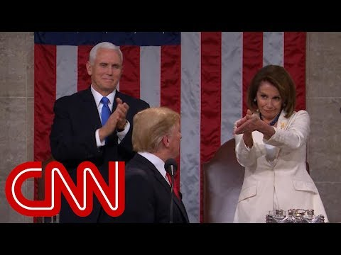 Trump gets standing ovation from Nancy Pelosi at 2019 State of the Union