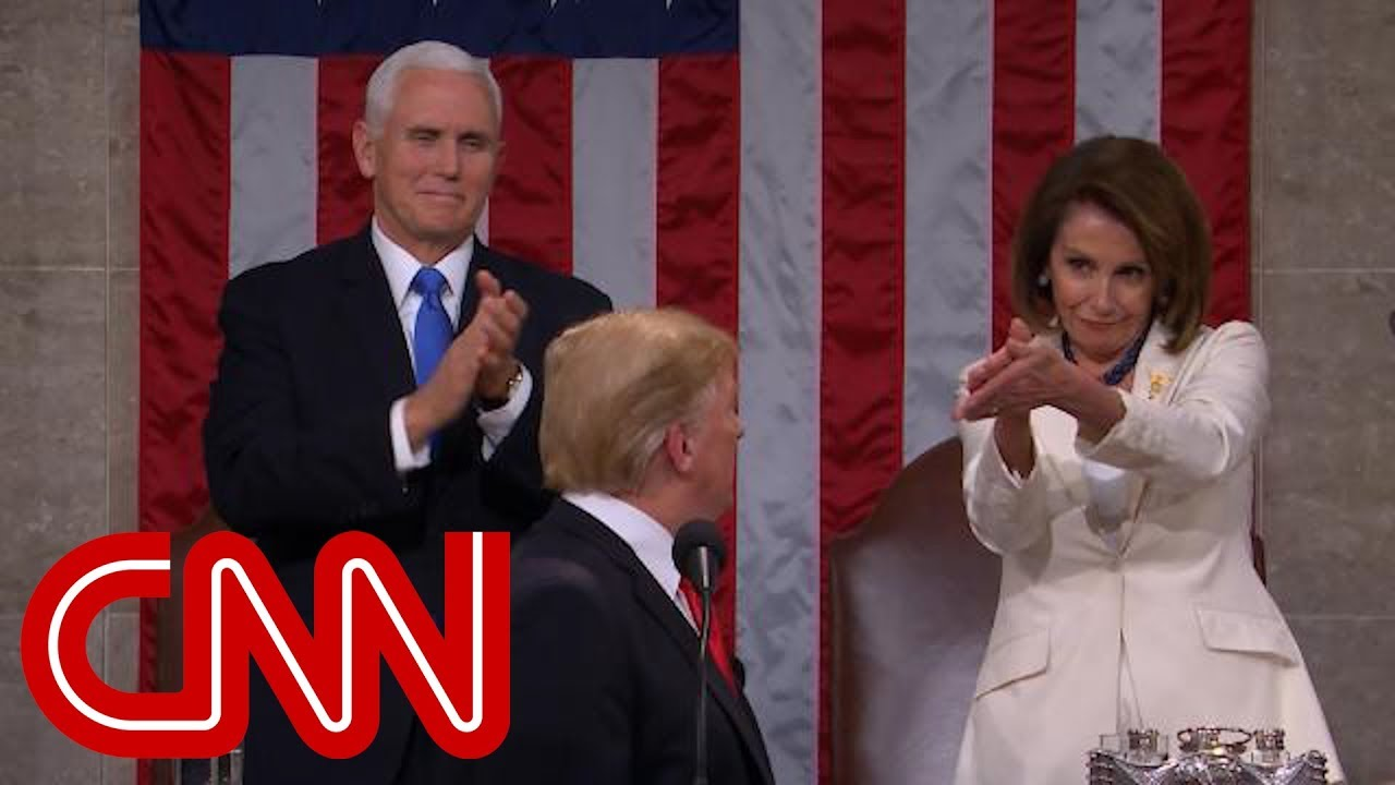 Trump's call gets standing ovation from Nancy Pelosi