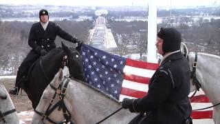 Reenlistment on Horseback in Arlington National Cemetery