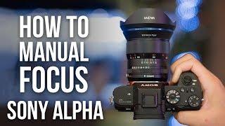 How to Manual Focus on Sony a6000 a6300 a6400 a6500 a7S    a7R    a7R    a7    a9
