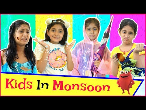 KIDS In Monsoon - Types of Kids..|#Freetoy #SoulfullRagiBites #Fun#Sketch#Roleplay#MyMissAnand