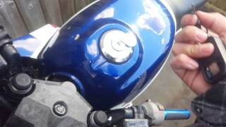 How to fix stuck motorcycle gas cap