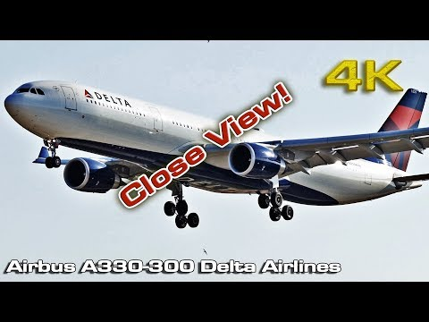 Airbus A330 300 Delta Airlines (Close View) [4K]